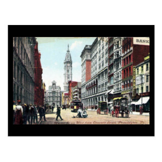 Old Postcard, Market St, Philadelphia, in 1909 Postcard