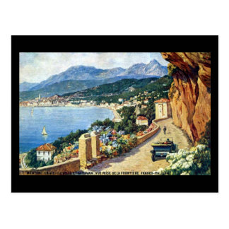 Old Postcard - Menton, France
