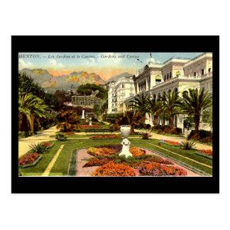 Old Postcard - Menton, Gardens & Casino