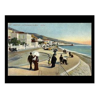 Old Postcard - Menton, Promenade