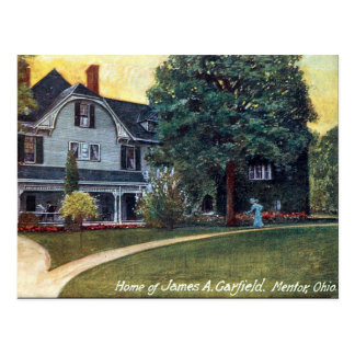 Old Postcard - Mentor Ohio, Garfield's House