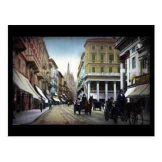 Old Postcard - Milan, Corso Vittorio Emanuele