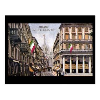 Old Postcard - Milan, Corso Vittorio Emanuele III