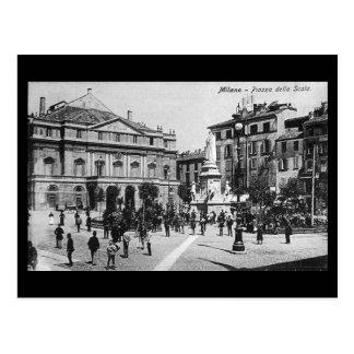 Old Postcard - Milan, Piazza della Scala