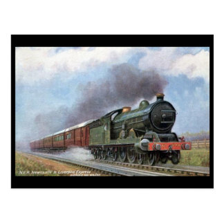 Old Postcard - NER Newcastle - Liverpool Express