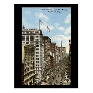 Old Postcard, New York City, 5th Avenue Postcard