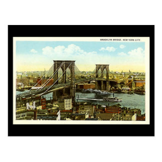 Old Postcard - New York City, Brooklyn Bridge
