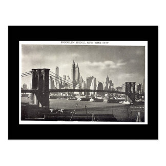 Old Postcard, New York City, Brooklyn Bridge Postcard