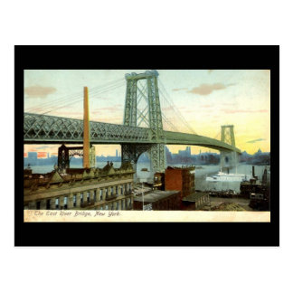 Old Postcard, New York City, Williamsburg Bridge Postcard
