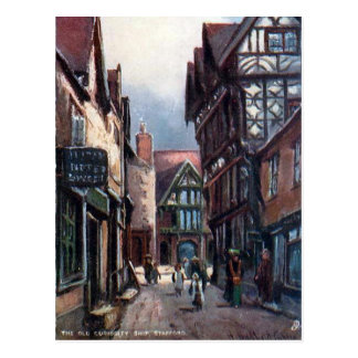 Old Postcard - Old Curiosity Shop, Stafford
