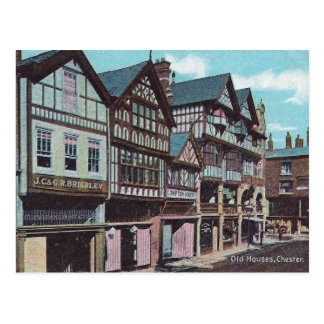 Old Postcard - Old Houses, Chester, England