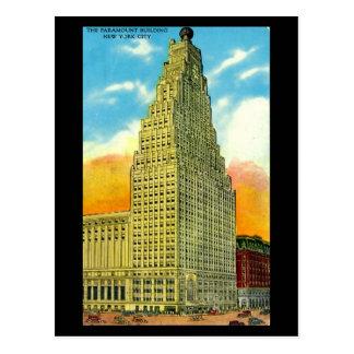 Old Postcard - Paramount Building, New York City