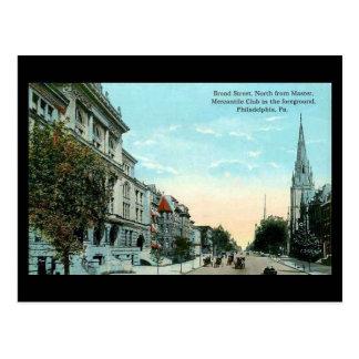 Old Postcard - Philadelphia Broad Street