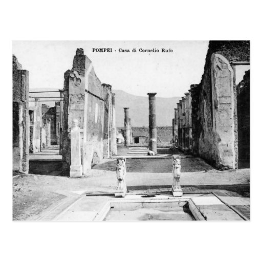 Old postcard pompei casa di cornelio rufo zazzle for Casa di 750 m