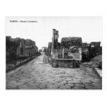 Old Postcard - Pompei, Strada Consolare