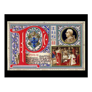 Old Postcard - Pope Pius II