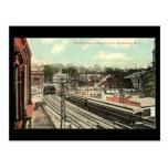 Old Postcard - Providence RI, Railway Tunnel