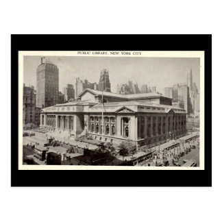 Old postcard public library new york city post card