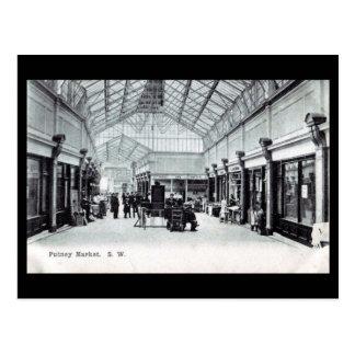 Old Postcard - Putney Market, London