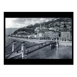 Old Postcard - Quai Perrière, Grenoble, France