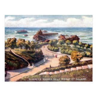 Old Postcard - Rocher de la Vierge, Biarritz