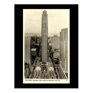 Old Postcard Rockefeller Center New York City Post Cards
