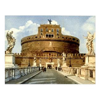 Old Postcard Rome Castel Sant Angelo
