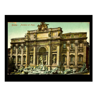 Old Postcard, Rome, Fontana di Trevi in 1908