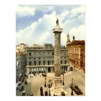 Old Postcard, Rome, Piazza Colonna Postcard