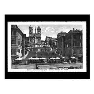 Old Postcard, Rome, Piazza di Spagna