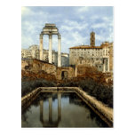 Old Postcard, Rome, Temple of Castor and Pollux