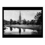 Old Postcard - Salisbury Cathedral