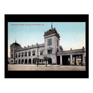 Old Postcard - Savannah Union Station