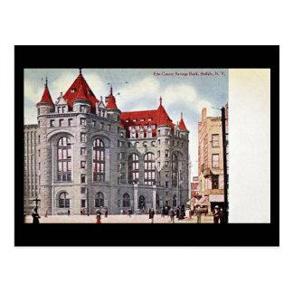 Old Postcard - Savings Bank, Buffalo, NY