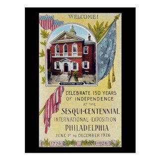 Old Postcard, Sesqui-Centennial, Philadelphia PA Postcard