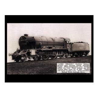 """Old Postcard - SR Engine 850 """"Lord Nelson""""."""