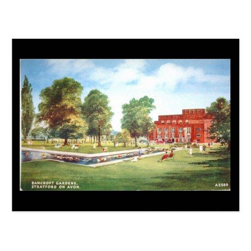 Old Postcard, Stratford-upon-Avon, Theatre