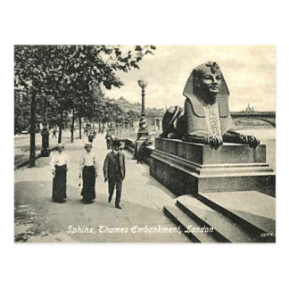 Old Postcard - The Sphinx, Thames Embankment, Lond