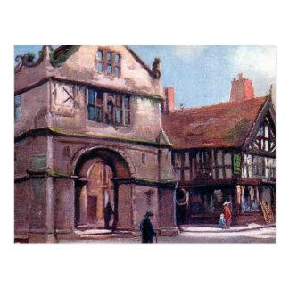 Old Postcard - Town Hall, Shrewsbury
