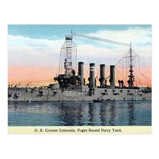Old Postcard - USS Colorado