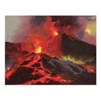 Old Postcard - Vesuvius