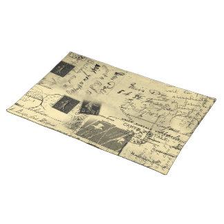 Old Postcards Placemat Cloth Place Mat