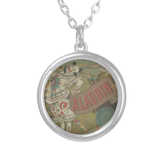 OLD POSTER OF CIRCUS SILVER PLATED NECKLACE