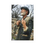 Old Potato man statue Sioux Falls SD Mckennan Park Canvas Print