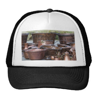 old pots and pans trucker hat