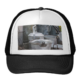 old pots and pans trucker hats