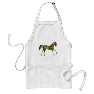 Old Print Horse Image Adult Apron