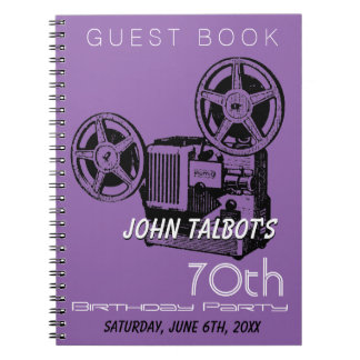 Old Projector 70th birthday Party Guest Book