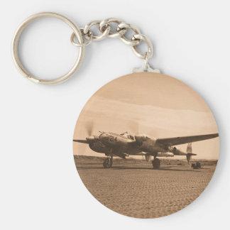 Old Prop Plane Keychain