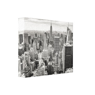 Old puctire of New York Canvas Print